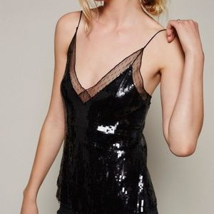 Free People Sequined Cami XS